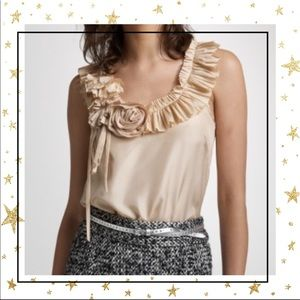 J.Crew Silk Sleeveless pleated blouse top (C4)
